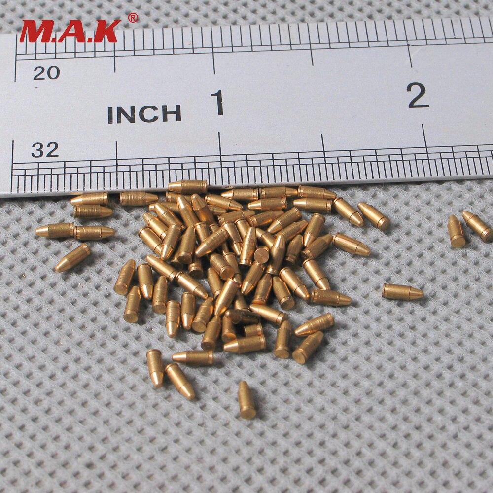 5 Pieces/set 1/6 Scale  MP40 Copper Bullets Pistol Bullets Model Parabellum 9mm For 12