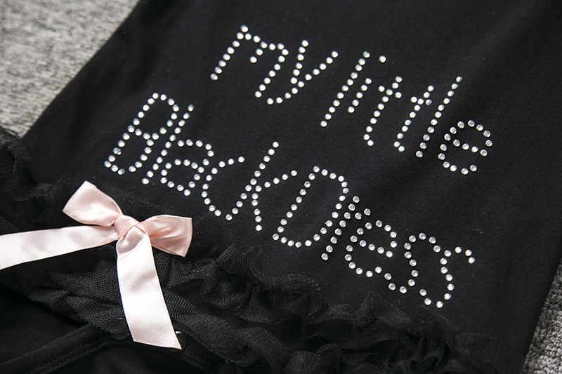Брендовая летняя одежда для маленьких девочек; Детский комбинезон для девочек; комбинезоны для новорожденных девочек; платье черного цвета с принтом «My Little»