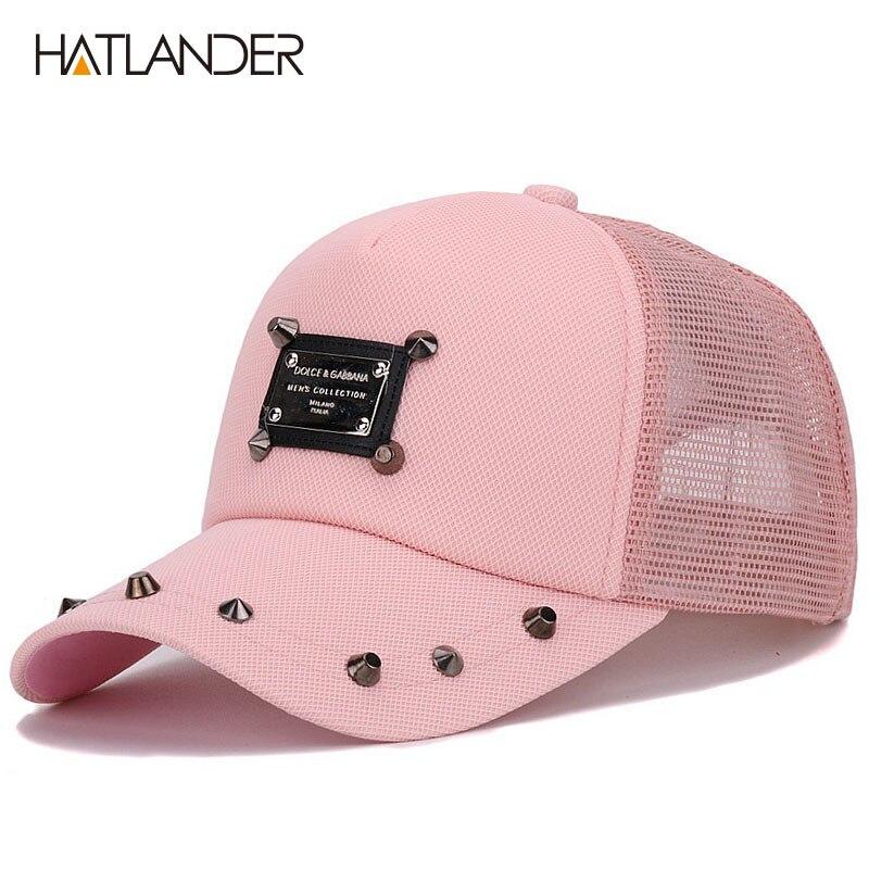 Prix pour Hatlander femmes rose casquette de baseball filles soleil d'été chapeaux gorras polo camionneur chapeau cappello bouchon sport casquette courbe mesh caps