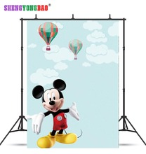 SHENGYONGBAO Art Cloth Custom Photography Backdrops Prop Cartoon Snow White theme Photo Studio Background W19329-44
