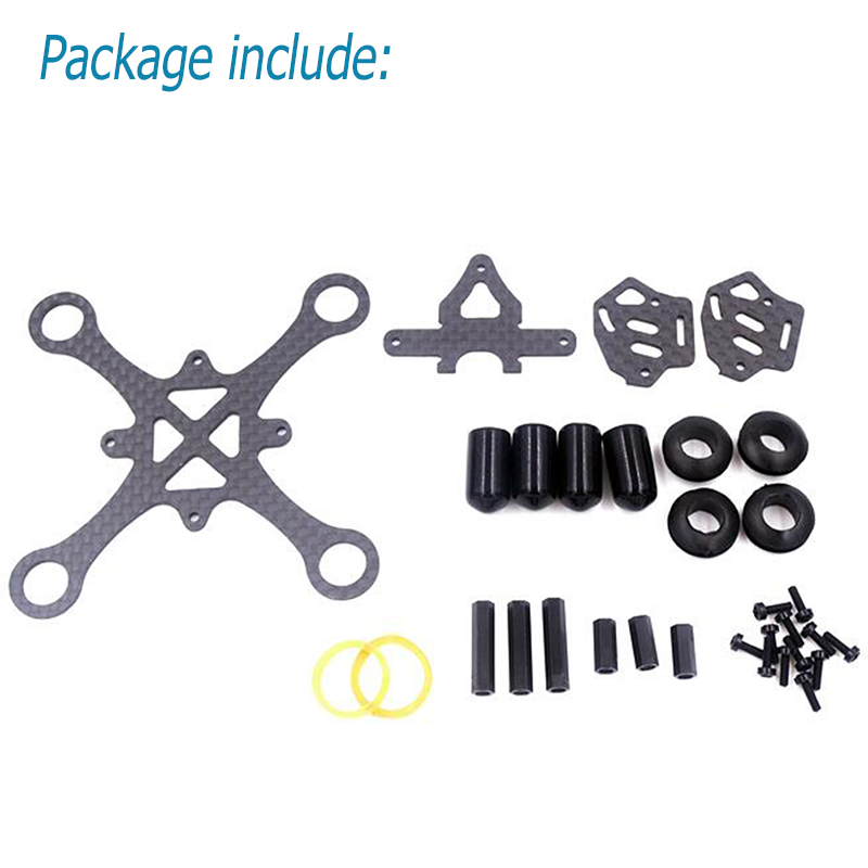 EYAS 55 Mini Drone Quadcopter Frame Kit 85mm for RC UAV Indoor FPV Racing F3 flight control 7mm/8mm Mini Brush Motor 55mm Prop