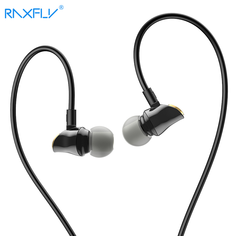 RAXFLY Filaire Écouteurs Pour iPhone Xiaomi Samsung 3.5 MM Casque In-Ear Musique Écouteurs Bruit Annuler Intra-auriculaires Microphone Fone De Ouvi