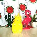 3D Tropical LED Flamingo Pineapple Cactus Light Romantic Night Lamp Table Lamp Home Christmas Party Decor