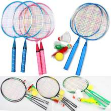 1 Pair Youth Childrens Badminton Rackets Sports Cartoon Suit Toy for Children  KH889