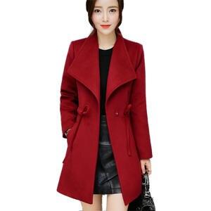 974434630c6e LYFZOUS Women Trench Coat Slim Long Overcoat Plus Size