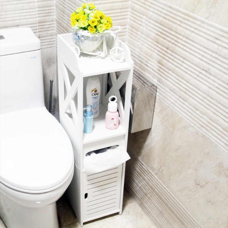 Напольный водонепроницаемый шкаф для туалета из ПВХ, стеллаж для хранения в ванной, для спальни, кухни, полки для хранения, органайзер для дома и ванной