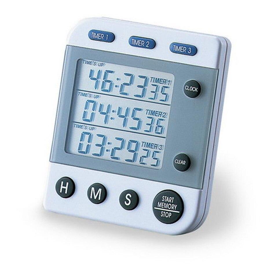 WB9388 Triple minuterie Type de Clip aspiration magnétique simultanément fonction de compte à rebours cumulatif