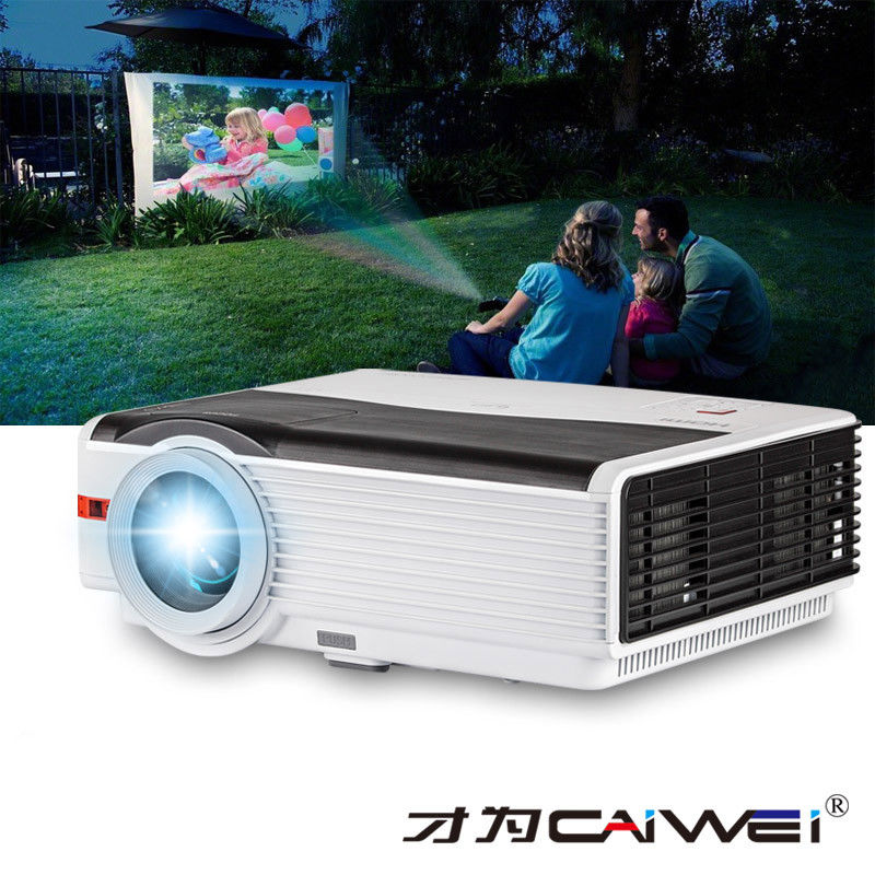 CAIWEI LED Home Theatre LCD Projector 1080p Full HD Supported Movie Video Digital Multimedia System Beamer HDMI TV USB AV VGA new led projector eu 1200 lumens home video hd 1080p office tv movie projectors with hdmi usb vga av for laptop 8 88 99