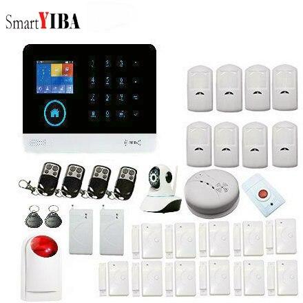 SmartYIBA système d'alarme de sécurité à domicile sans fil WIFI APP contrôle alarme antivol maison intelligente alarme résidentielle GSM IP caméra 2G SIM
