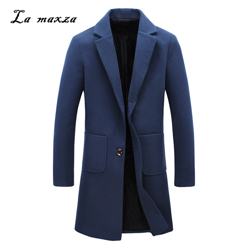 Mens Coats Dress Winter Wool Plus-Size Casual Fashion Smart New-Arrivals