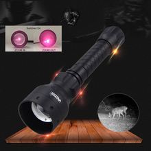 цена на Tactical 50MM Convex Lens Torch Zoomable Infrared Hunting Flashlight Adjustable 850nm IR Night Vision illuminator 400 Yards