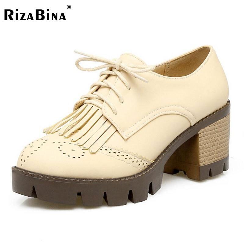 RizaBina Lady High Heels Shoes Women Tassels Cross Strap Lace Up Heels Pumps Office Platfrom Zapatillas