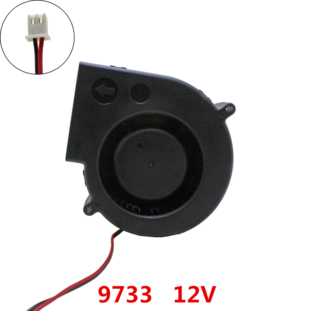 9733 blower Cooling fan DC 12V Brushless Fans cooling centrifugal Turbo Fan cooler radiator heat dissipation hot sale dc12v 2 7a turbo blower fan 3 wire air volume large barbecue stove centrifugal for bbq cooking cooler fan