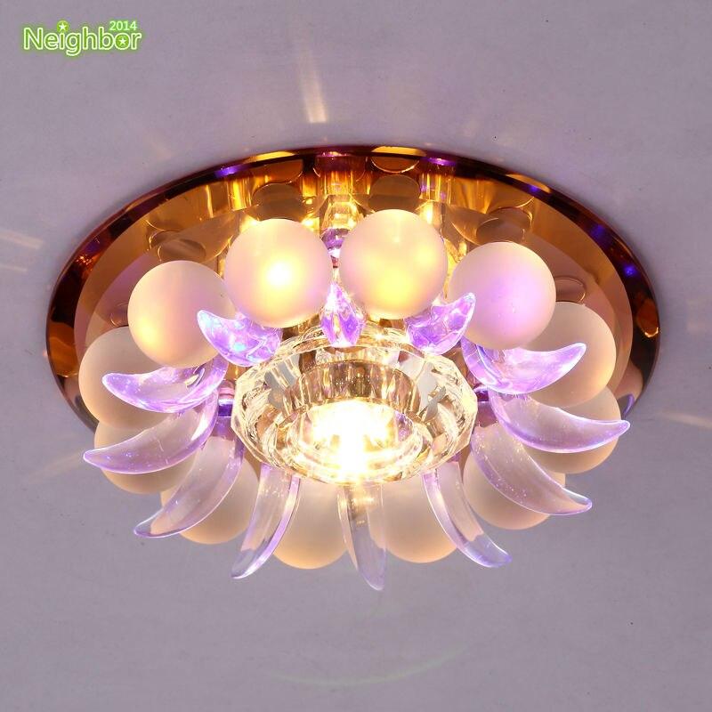 Modern crystal ceiling lamp lotus hallway bedroom living Dual purpose living room bedroom