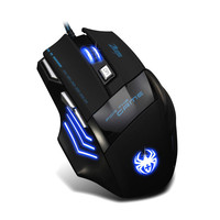 Factory Pricee 7 Button LED Optical USB Wired 5500 DPI Gaming PRO Mouse For Pro Gamer