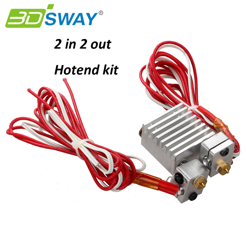 3D Printer All metal  Chimera Dual Head Extruder Copper Fittings Multi-extrusion long distance Extruder for 0.4mm/1.75mm  2017 xinkebot all metal 3d printer led single dual extruder 400x400x480mm big size 3d printer