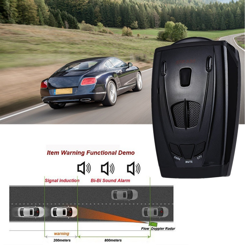 Nouveau détecteur de voiture russe/anglais STR535 détecteur de Radar de voiture Anti-Radar détecteur de Radar Laser système d'alarme vocale 29