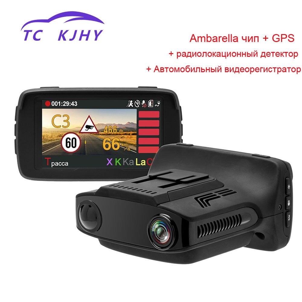 2018 Auto 2.7 Inch HD 1080P Dash Cam Car DVR Camear Radar Detector Gps 3 In 1 Video Recorder Registrar Dash Cam Car DVR Display