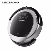 LIECTROUX Robotic Vacuum Cleaner B6009 2D Map Gyroscope Navigation With Memory Low Repetition Virtual Blocker UV