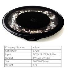 VEEAII 10 w Qi беспроводной Chargeur для iPhone X 8 Verre Rapide автомобиля Беспроводное зарядное устройство беспроводной Pad Налейте samsung Galaxy S9 s8 плюс