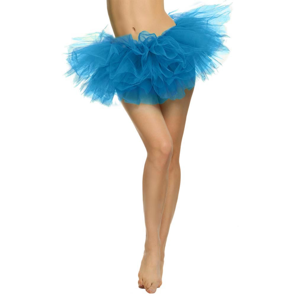 2019 MAXIORILL NEW Hot Sexy Fashion Pretty Girl Elastic Stretchy Tulle Adult Tutu 5 Layer Skirt Wholesale T4 13