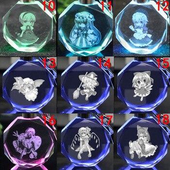 Аниме брелок светодиодный кристалл Touhou Project в ассортименте 1