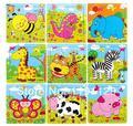 3 шт./лот деревянные головоломки для детей и детские головоломки мультфильм головоломки обучения и образовательные игрушки
