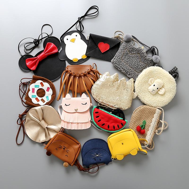 Kids Children Coin Purse Cartoon Cute girl cross body shoulder bags for kindergarten baby girls messenger bag gifts