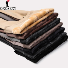 8 色 260 グラム厚みの冬タイトな不透明な足ハイウエストプラスサイズのシームレスな暖かい冬のストッキングタイツ特大サイズ 063
