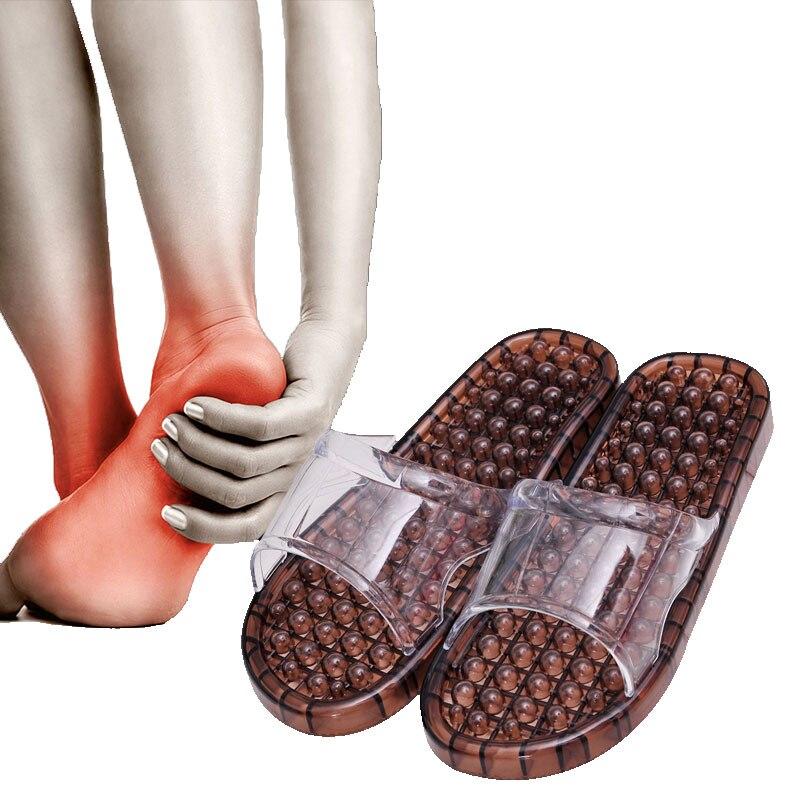 Summer Bathroom Foot Massage Slippers Beach Acupoint Pedicure Anti skid Plastic Lovers Sandals Shiatsu Acupressure Shoes