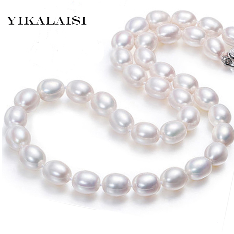 YIKALAISI 2017 Classic Drop Water natural pearl choker necklace for women fashion 925 sterling Silver jewelry Four Length faux pearl velvet water drop choker