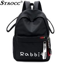 2019 Backpack Women Nylon Cute Cat Rabbit Bear Design Mochila Student Backpack School Bag For Girls Casual Travel Female Bagpack цена 2017