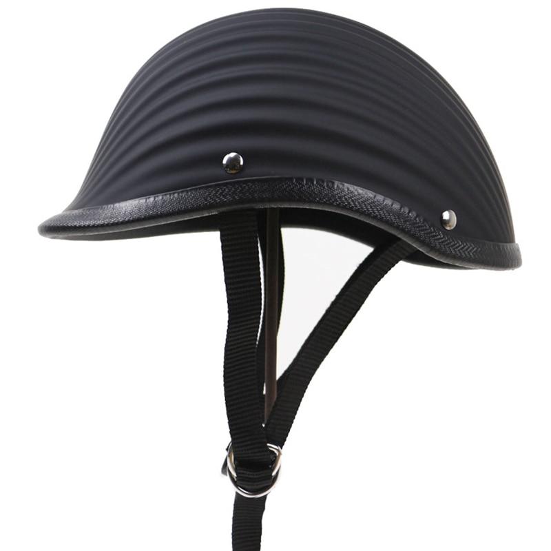 Visage ouvert demi casque ABS vague modèle Style Moto vintage Moto Moto Vespa casque de course noir blanc
