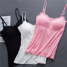 Fashion Korean Ladies Version Of The One-Piece Camisole Female Summer Lace Lace Sleeveless Sexy Modal Harness Bottoming Shirt