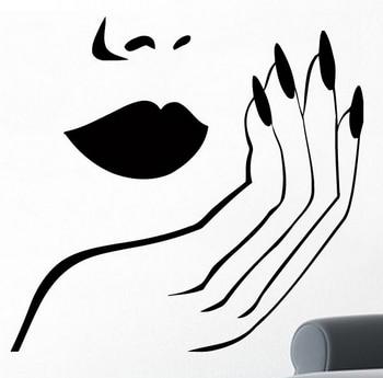 nail wall sticker sexy girl