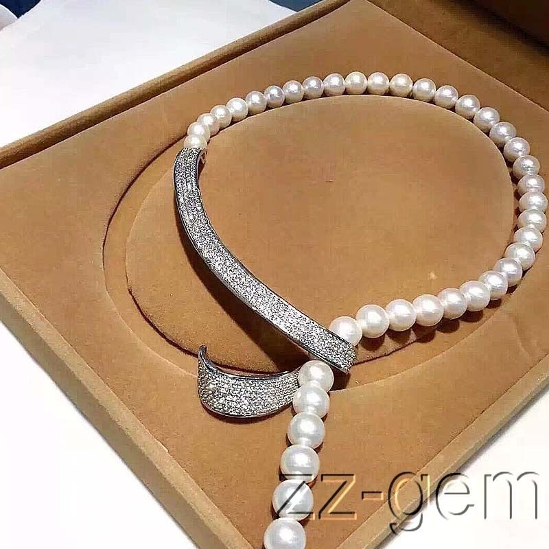 En gros prix 16new ^ ^ ^ ^ 10mm sea shell perles collier-cz micro pave connecteur
