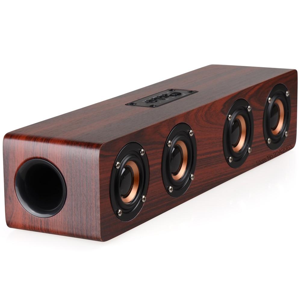 Փայտե անլար Bluetooth բարձրախոս Բարձր - Դյուրակիր աուդիո և վիդեո - Լուսանկար 2