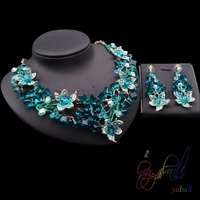 New design river stone jewelry middle east forever crystals jewelry set