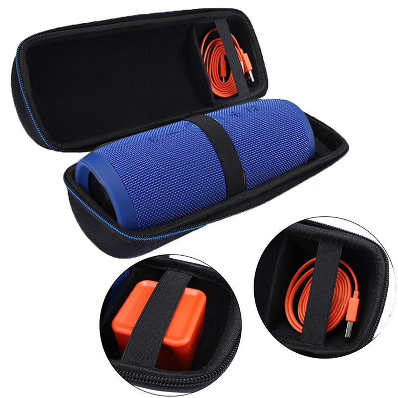 Russia PU Travel Vacation Protection Speaker Cover Bag for JBL Charge 3 Charge3 Extra Plug and Cable (With Belt )