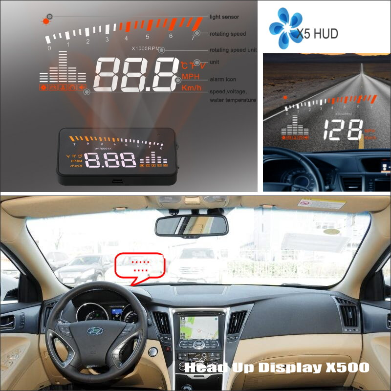 все цены на Car HUD Head Up Display For Hyundai EF Sonata 1998~2006 - Safe Driving Screen Projector Inforamtion Refkecting Windshield