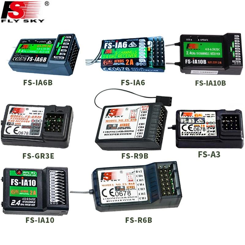 Flysky FS-GR3E FS-A3 FS-A6 FS-R6B FS-X6B FS-iA6 FS-iA6B FS-BS6 FS-A8S FS-R9B FS-iA10 FS-iA10B Rc receptor para Flysky transmisor
