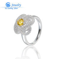 Princess Natural Topaz Gems Ring Pure Solid Genuine 925 Sterling Silver Ring 2016 Brand Gift For