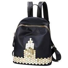 2017 новые модные женские туфли рюкзак высокое качество молодежи нейлон Рюкзаки для девочек-подростков Женский школьная сумка рюкзак Mochila