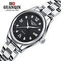 Famosa marca guanqin mulheres relógio de quartzo diamante senhoras meninas relógios de luxo mulheres vestido da senhora relógio de safira relógio montre femme