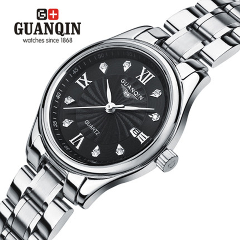 ФОТО Famous Brand GUANQIN Women Watch Diamond Quartz Ladies Watches Girls Luxury Women Dress Lady Sapphire Watch Clock Montre Femme