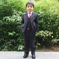 Цветок мальчика костюм Дети Черный Свадебные костюмы 4 шт. Формальное одежда наборы для Мальчиков Пиджаки set 80-170 см Страница мальчик Наряды одежда