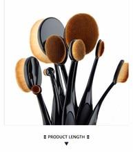 Beginne New 10pcs/set Tooth Brush Shape Oval Makeup Brush Set MULTIPURPOSE Professional Foundation Powder Brush Kits with Box
