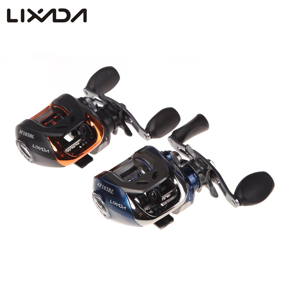 Lixada AF103 Bait Casting Fishing Reel 11 BB Ball Bearings Left /Right Hand Fishing Reel Coils GT 6.3:1  Carretilha De Pesca