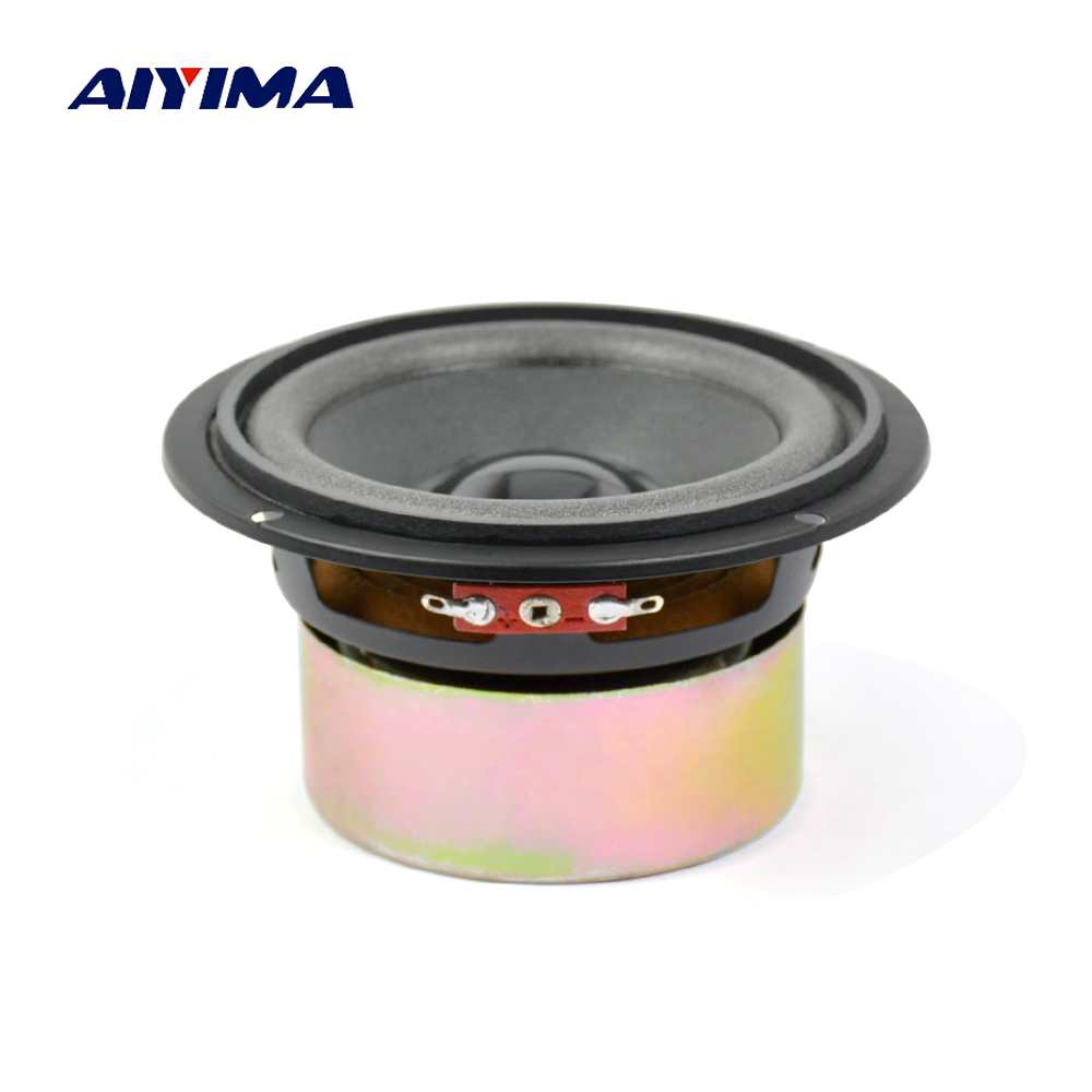 Aiyima 1PC 4 Inch Audio Speaker 8Ohm 30W Full Range Speaker Foam Edge Paper Cone Loudspeaker ghxamp 6 5 inch full range speaker coaxial horn car speaker unit 8ohm 30w neodymium car audio loudspeaker 2pcs