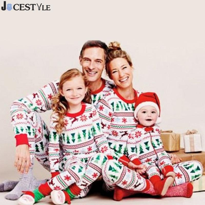 Family Christmas Pajamas Digital Home Clothes Print Family Matching Clothes Outfits For Christmas mom/dad and daughter clothes